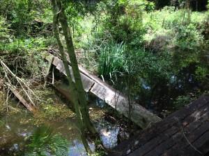 It seems the bridge fell through....